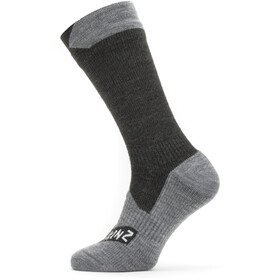 Sealskinz Waterproof All Weather Mid Socks Black/Grey Marl